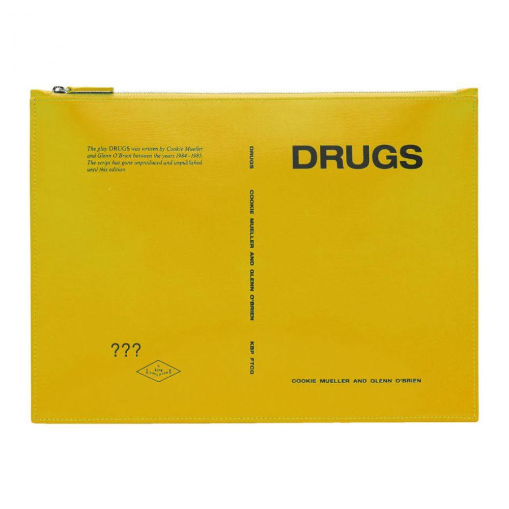 ラフ シモンズ Raf Simons メンズ ポーチ【Yellow 'Drugs' Zipped Document Pouch】