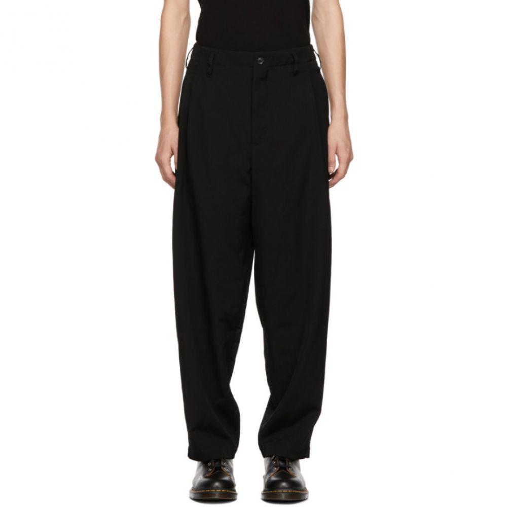 ヨウジヤマモト Yohji Yamamoto メンズ ボトムス・パンツ【Black G-Side Tuck Trousers】