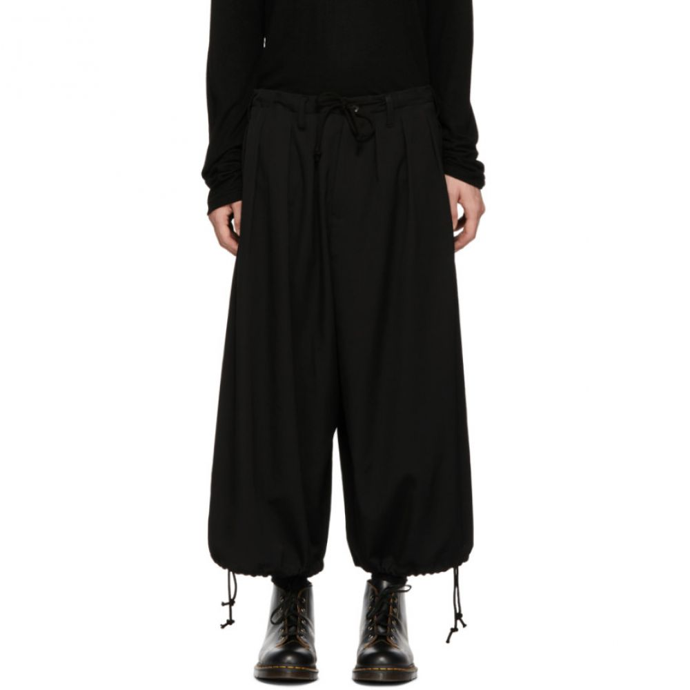ヨウジヤマモト Yohji Yamamoto メンズ ボトムス・パンツ【Black Basic Balloon Trousers】