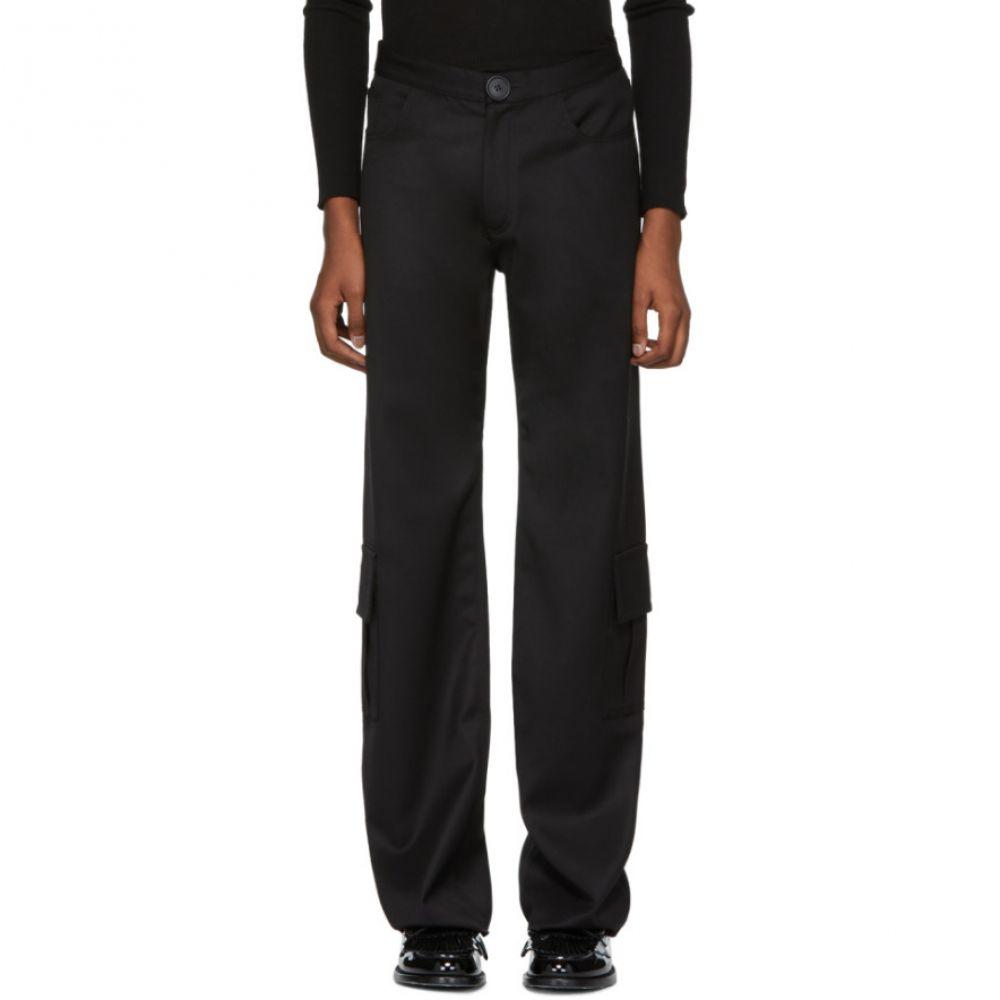 ウェールズボナー Wales Bonner メンズ ボトムス・パンツ カーゴパンツ【Black Wool Cargo Pants】