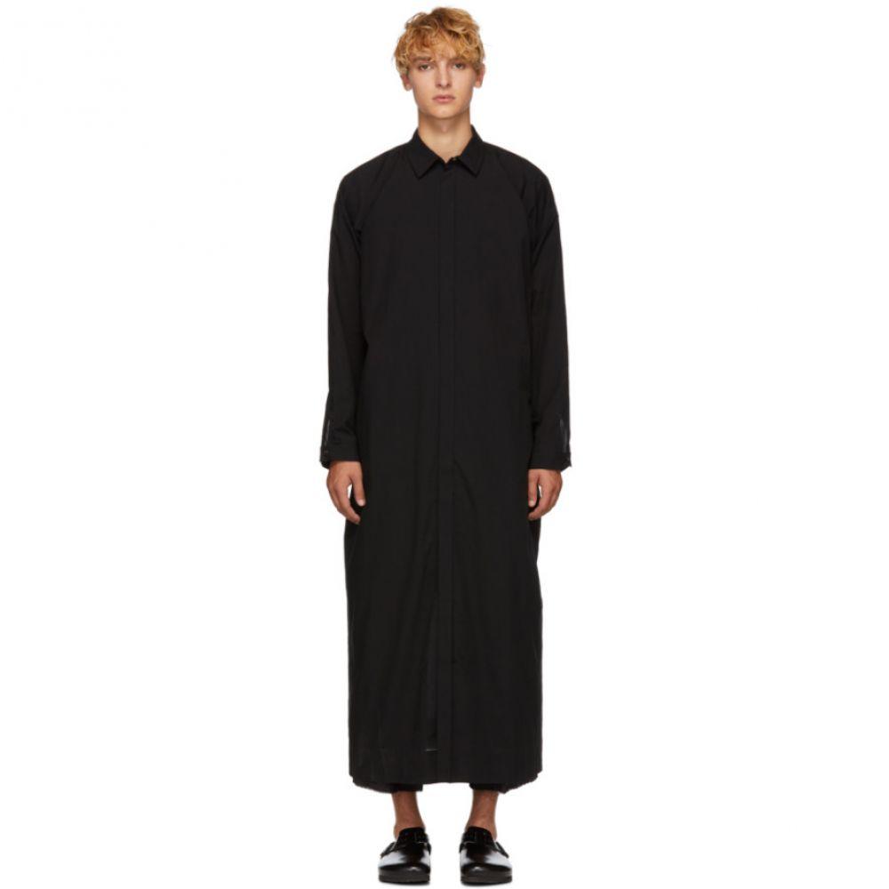 ヤン ヤン ヴァン エシュ Jan-Jan Van Essche メンズ トップス シャツ【Black Long Wool Shirt】