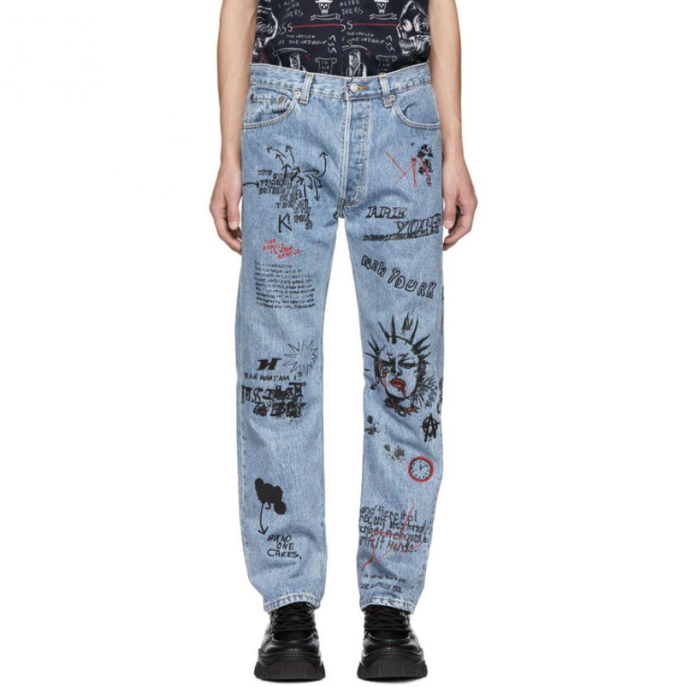 アール サーティーン R13 メンズ ボトムス・パンツ ジーンズ・デニム【Blue Repurposed Graffiti Jeans】