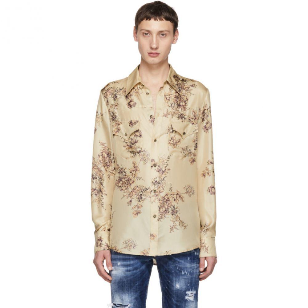 ディースクエアード Dsquared2 メンズ トップス シャツ【Beige Flower Western Shirt】