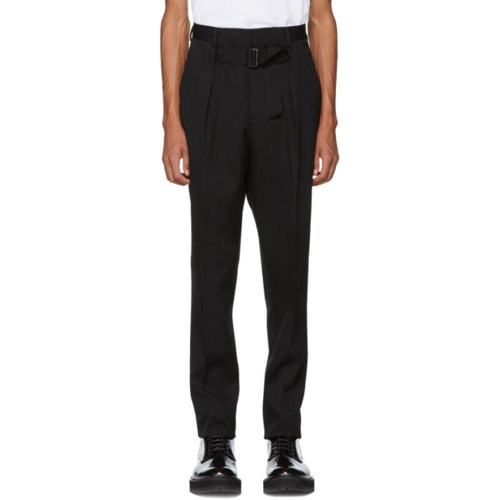 ジバンシー Givenchy メンズ ボトムス・パンツ【Black Pleated Trousers】