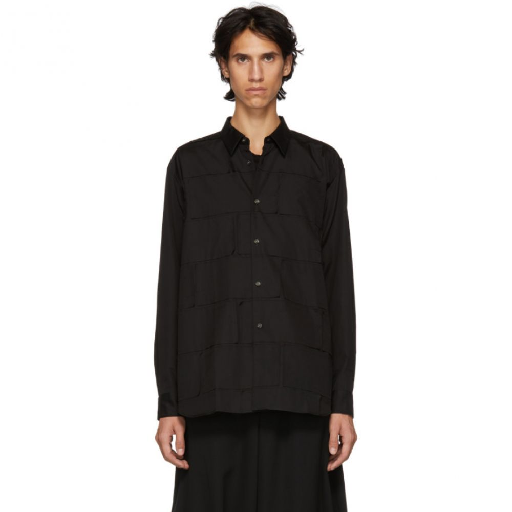 コム デ ギャルソン Comme des Garcons Homme Plus メンズ トップス シャツ【Black Patch Cotton Shirt】