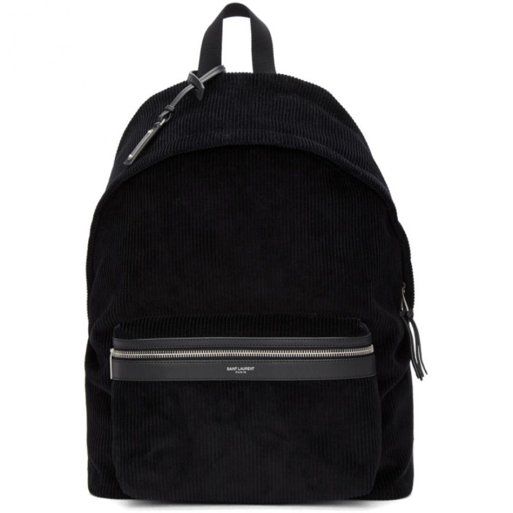 イヴ サンローラン Saint Laurent メンズ バッグ バックパック・リュック【Black Corduroy City Backpack】