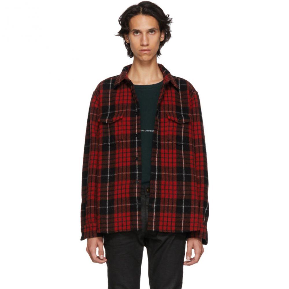 イヴ サンローラン Saint Laurent メンズ トップス シャツ【Red & Black Brushed Flannel Shirt】