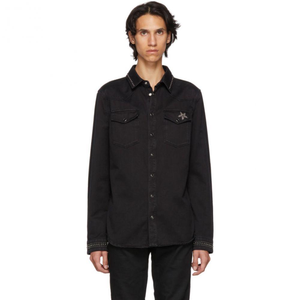 ヴァレンティノ Valentino メンズ トップス シャツ【Black Denim Shirt】