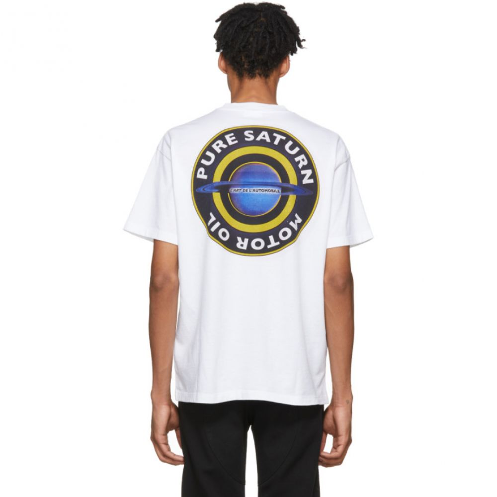 カー KAR / L'Art de L'Automobile メンズ トップス Tシャツ【White Pure Saturn T-Shirt】