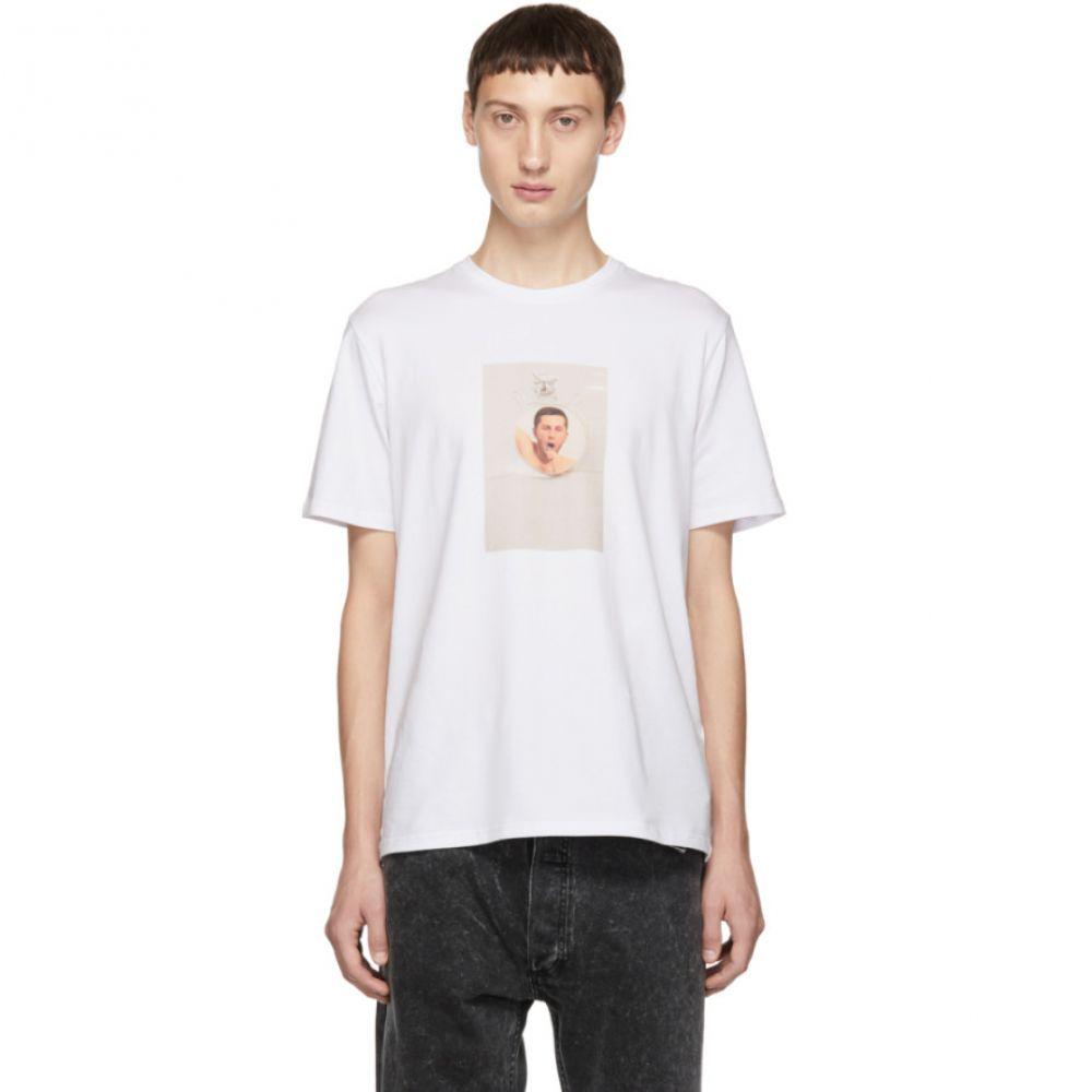 アントンベリンスキー Anton Belinskiy メンズ トップス Tシャツ【White Anton Photo T-Shirt】