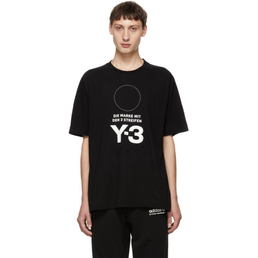 ワイスリー Y-3 メンズ トップス Tシャツ【Black Stacked Logo T-Shirt】