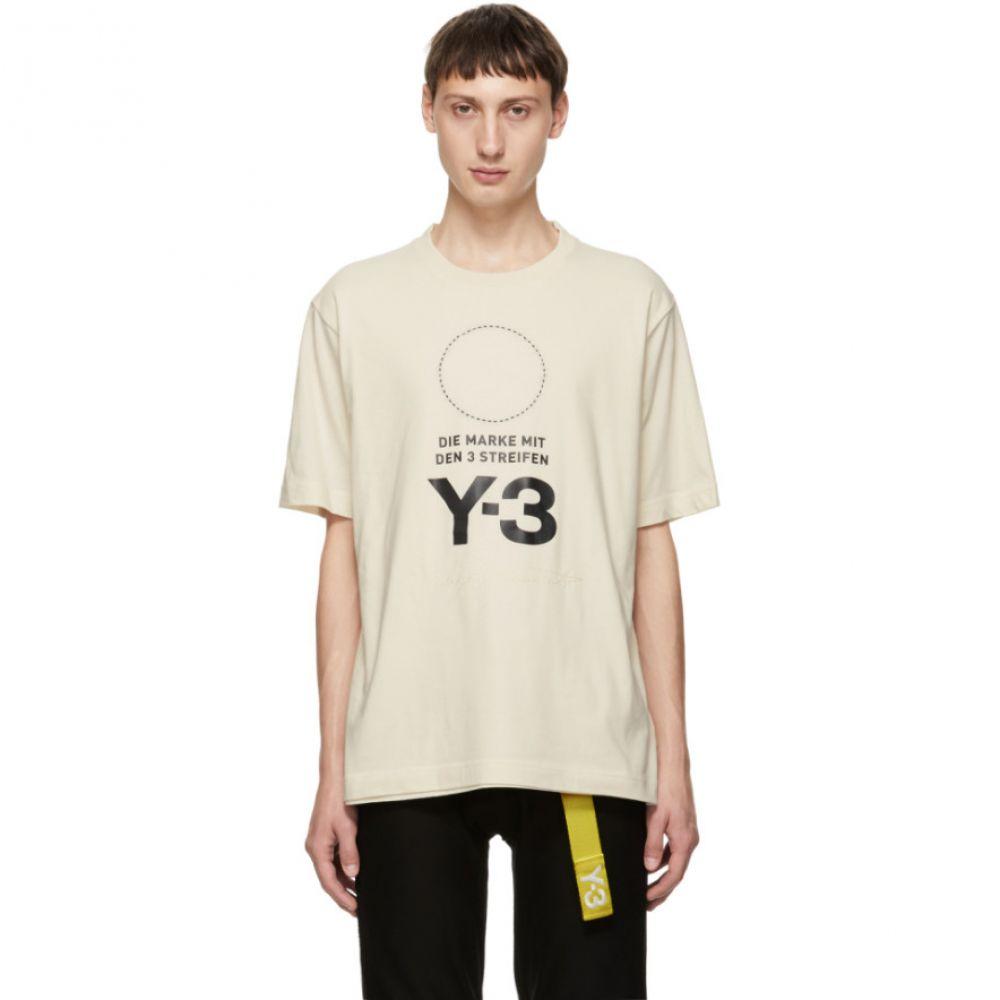 ワイスリー Y-3 メンズ トップス Tシャツ【White Stacked Logo T-Shirt】