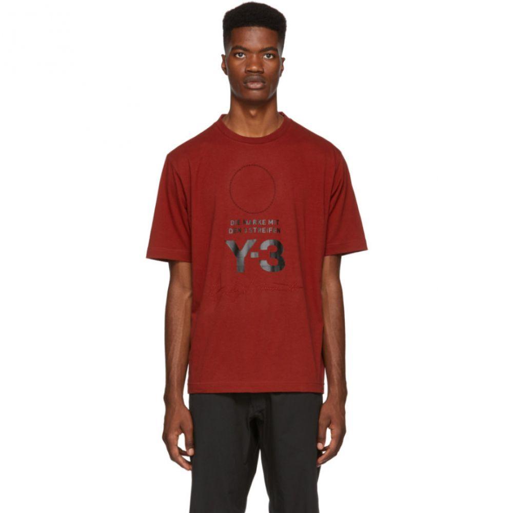 ワイスリー Y-3 メンズ トップス Tシャツ【Red Stacked Logo T-Shirt】