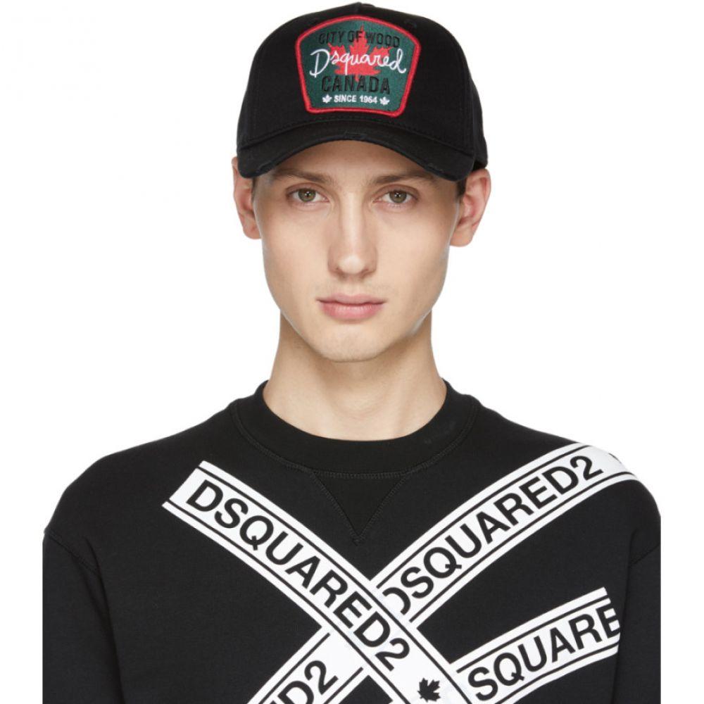 ディースクエアード Dsquared2 メンズ 帽子 キャップ【Black Maple Leaf Baseball Cap】