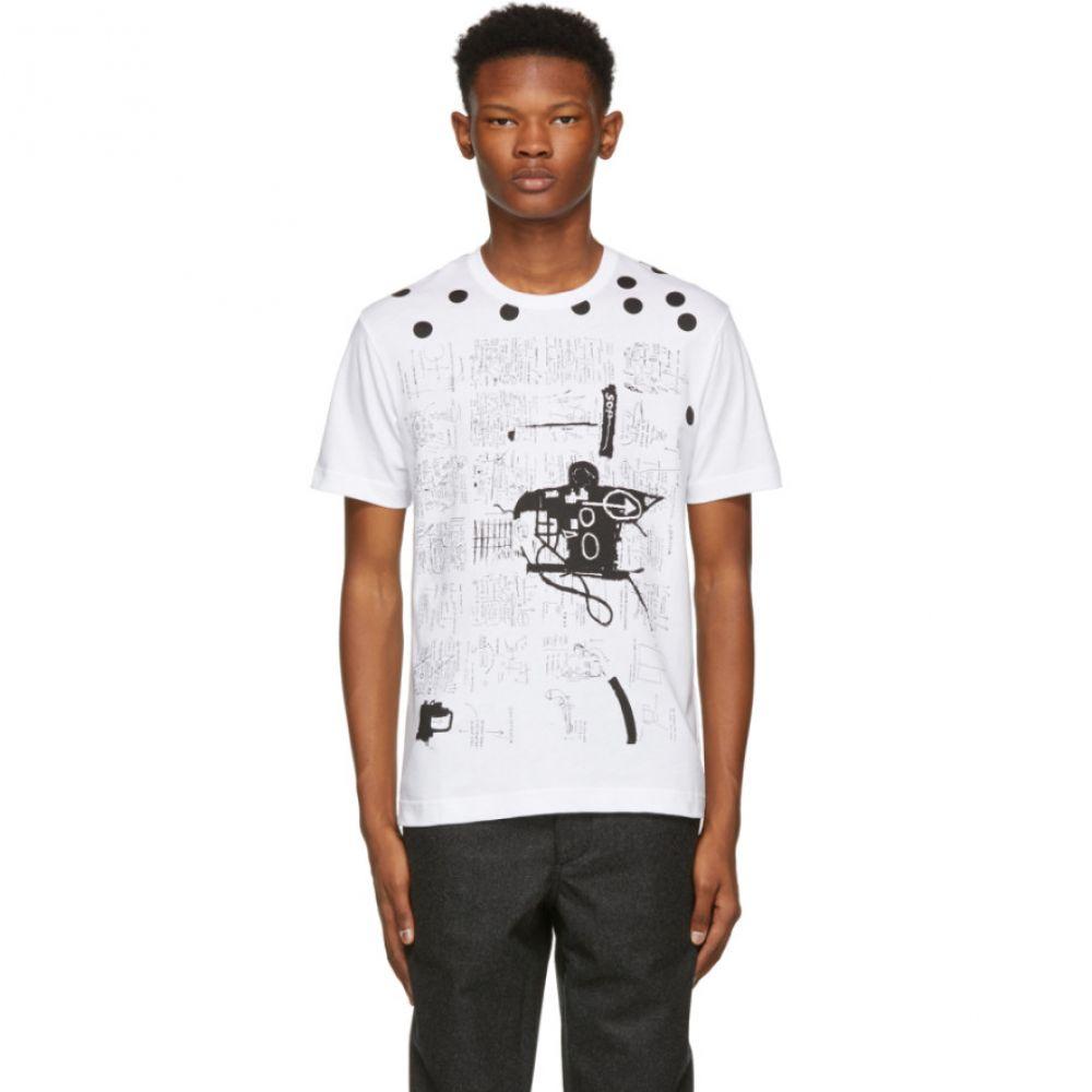 コム デ ギャルソン Comme des Garcons Shirt メンズ トップス Tシャツ【White & Black Basquiat Print T-Shirt】