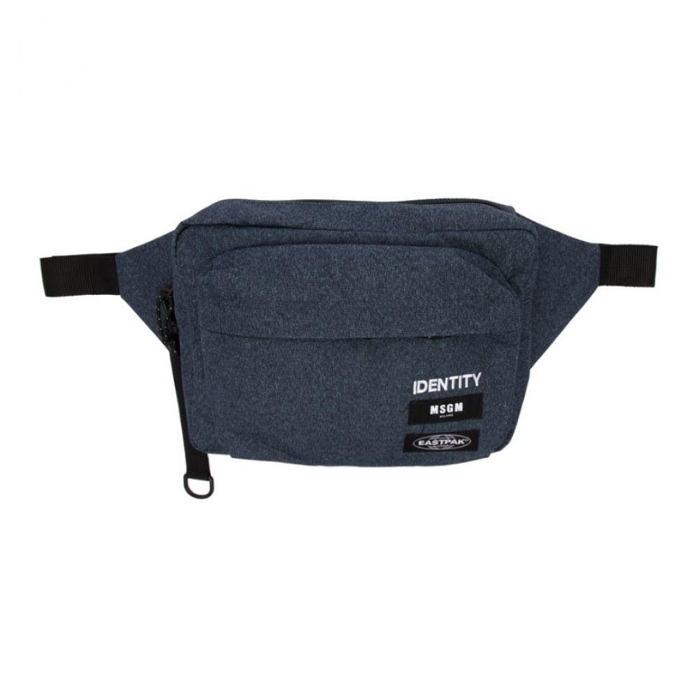 エムエスジーエム MSGM メンズ バッグ ボディバッグ・ウエストポーチ【Blue Eastpak Edition 'Identity' Belt Pouch】