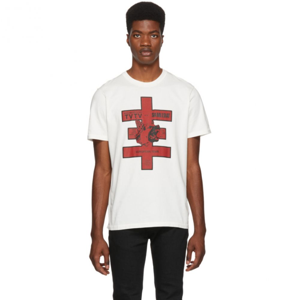 ヤンリ Yang Li メンズ トップス Tシャツ【White European Tour T-Shirt】