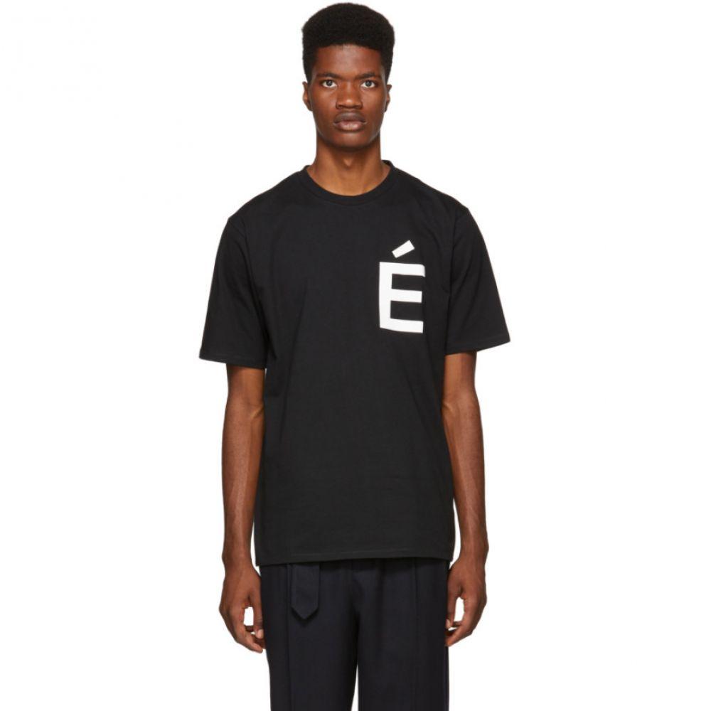 エチュード Etudes メンズ トップス Tシャツ【Black Wonder Accent T-Shirt】