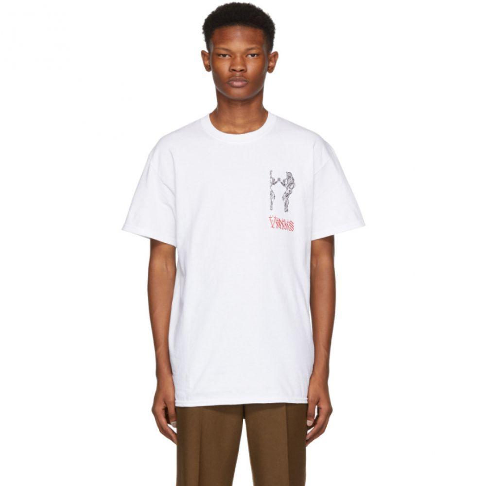 トーガ Toga Virilis メンズ トップス Tシャツ【White Logo Print T-Shirt】