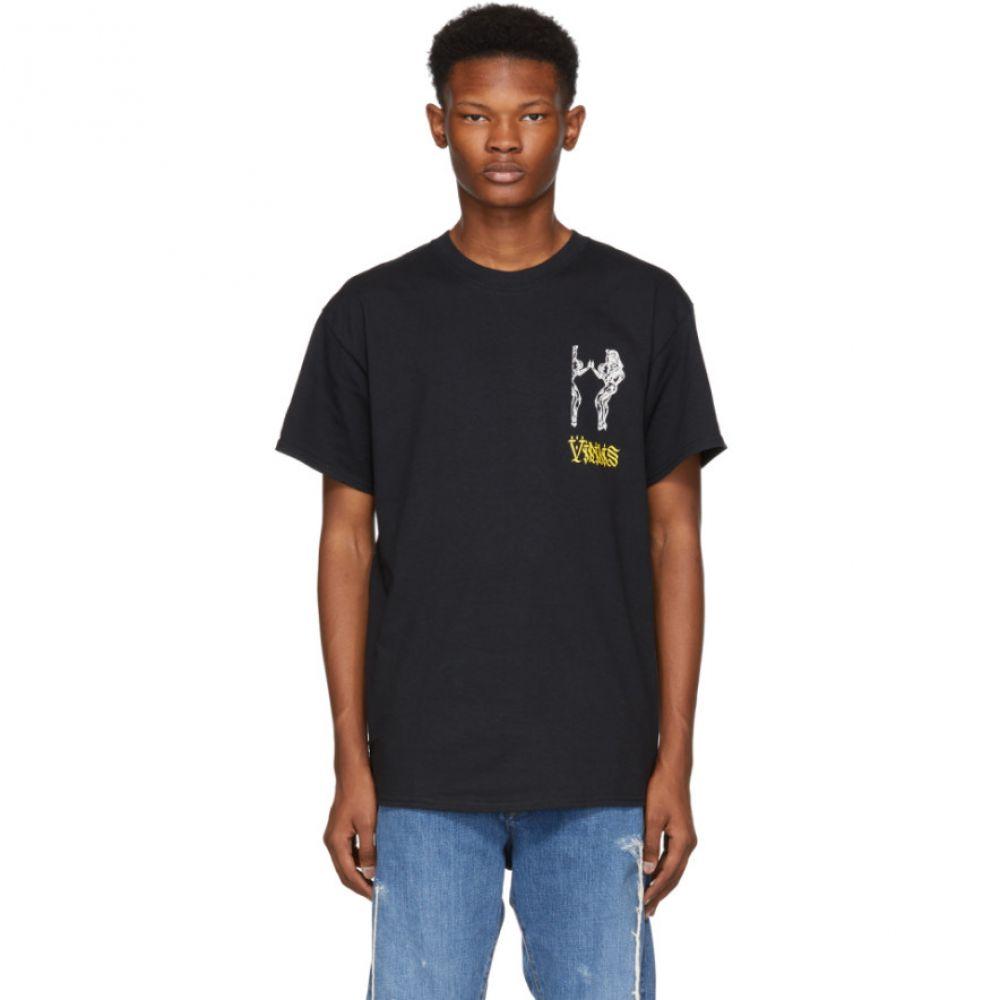 トーガ Toga Virilis メンズ トップス Tシャツ【Black Logo Print T-Shirt】