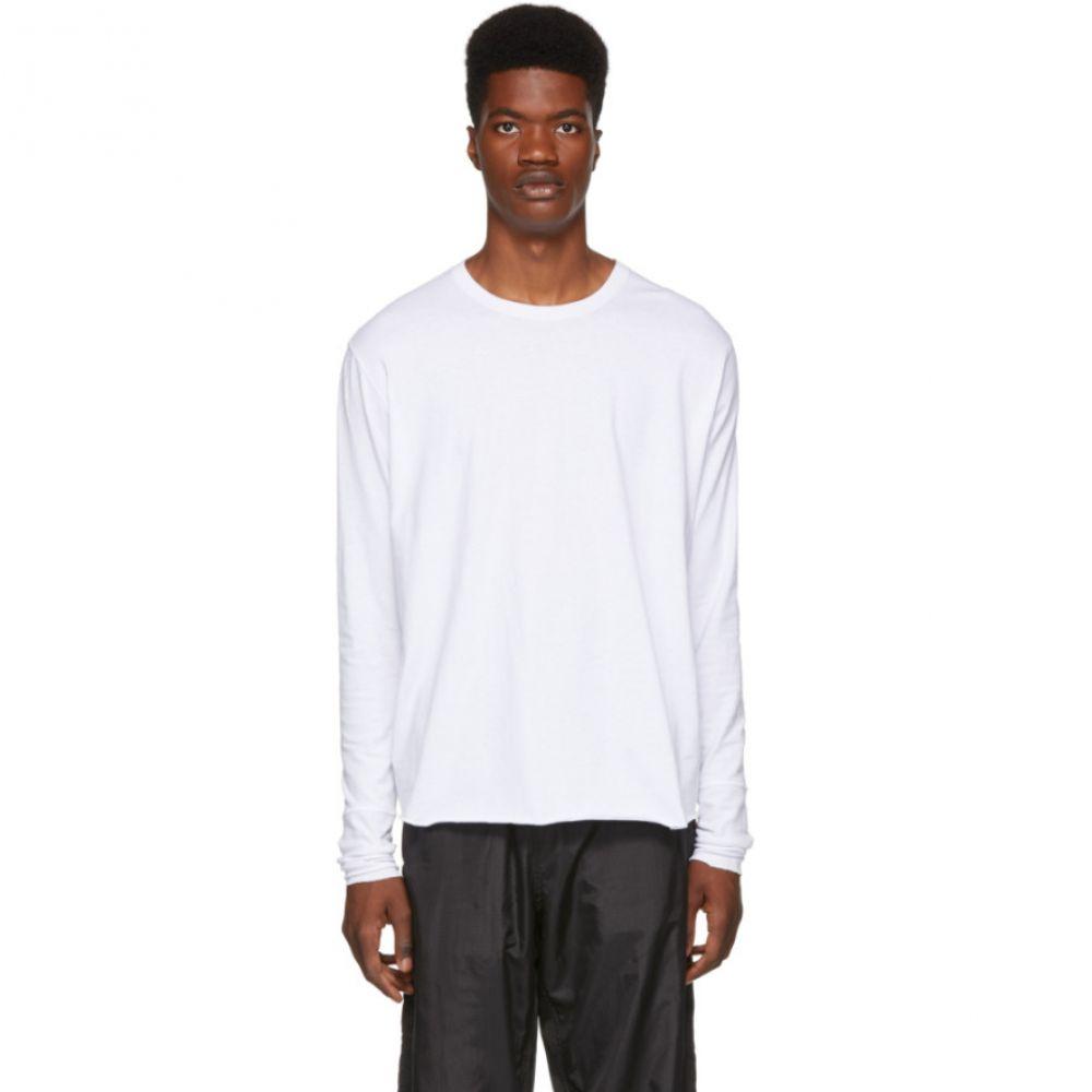 ワンダース Wonders メンズ トップス 長袖Tシャツ【White Jersey Long Sleeve T-Shirt】