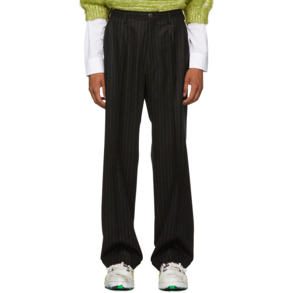 メゾン マルジェラ Maison Margiela メンズ ボトムス・パンツ【Black Flannel Pinstripe Trousers】