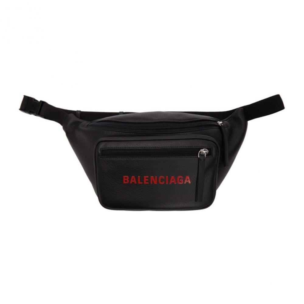 バレンシアガ Balenciaga メンズ バッグ ボディバッグ・ウエストポーチ【Black Leather Logo Belt Bag】