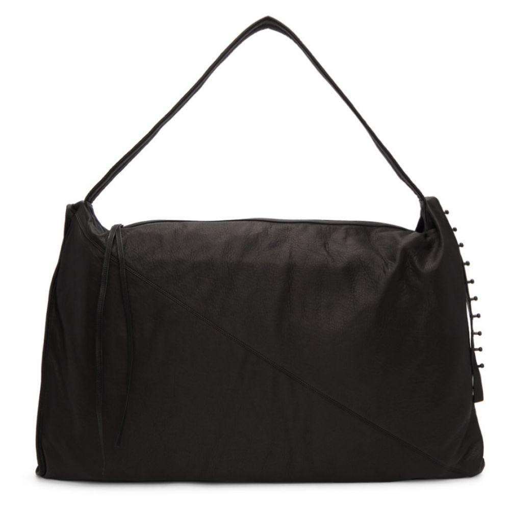 イザベル ベネナート Isabel Benenato メンズ バッグ メッセンジャーバッグ【Black Leather Messenger Bag】