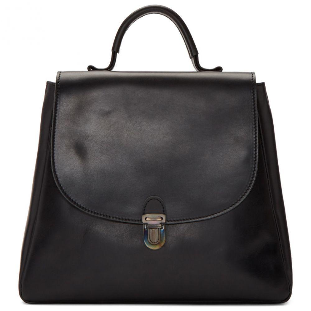 シェレヴィッキオヴィッキ Cherevichkiotvichki レディース バッグ ハンドバッグ【Black Small Flat Lock Bag】