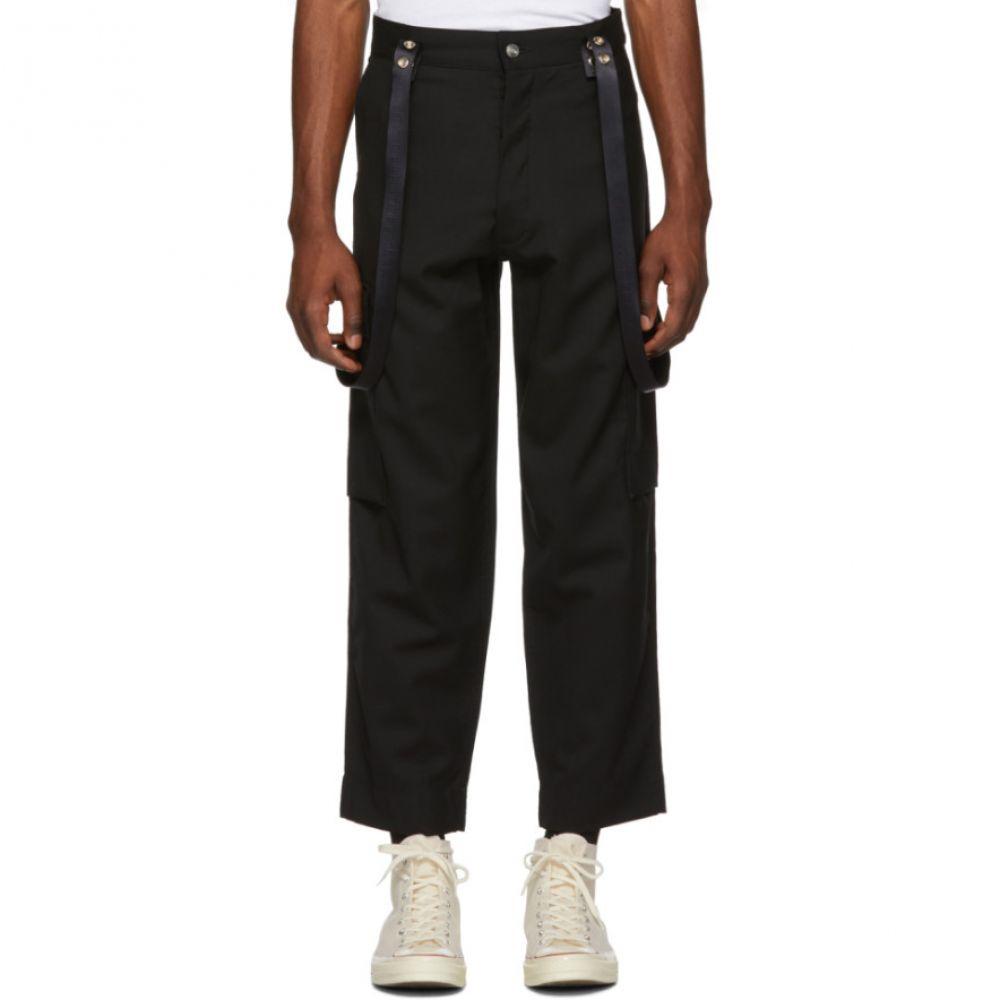 アンファン リッシュ デプリメ Enfants Riches Deprimes メンズ ボトムス・パンツ カーゴパンツ【Black Cargo Suspenders Trousers】