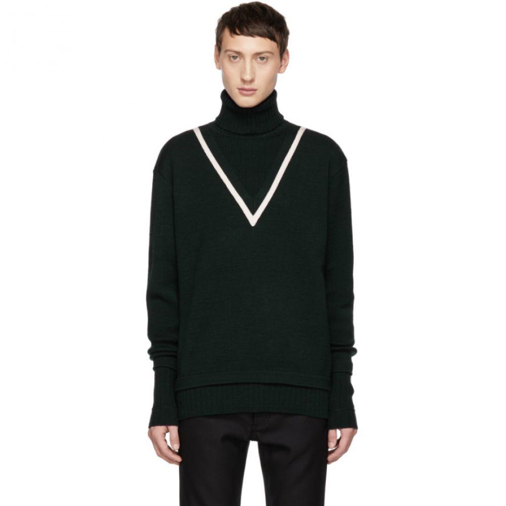 ジバンシー Givenchy メンズ トップス ニット・セーター【Green Fake Double Layer Turtleneck】