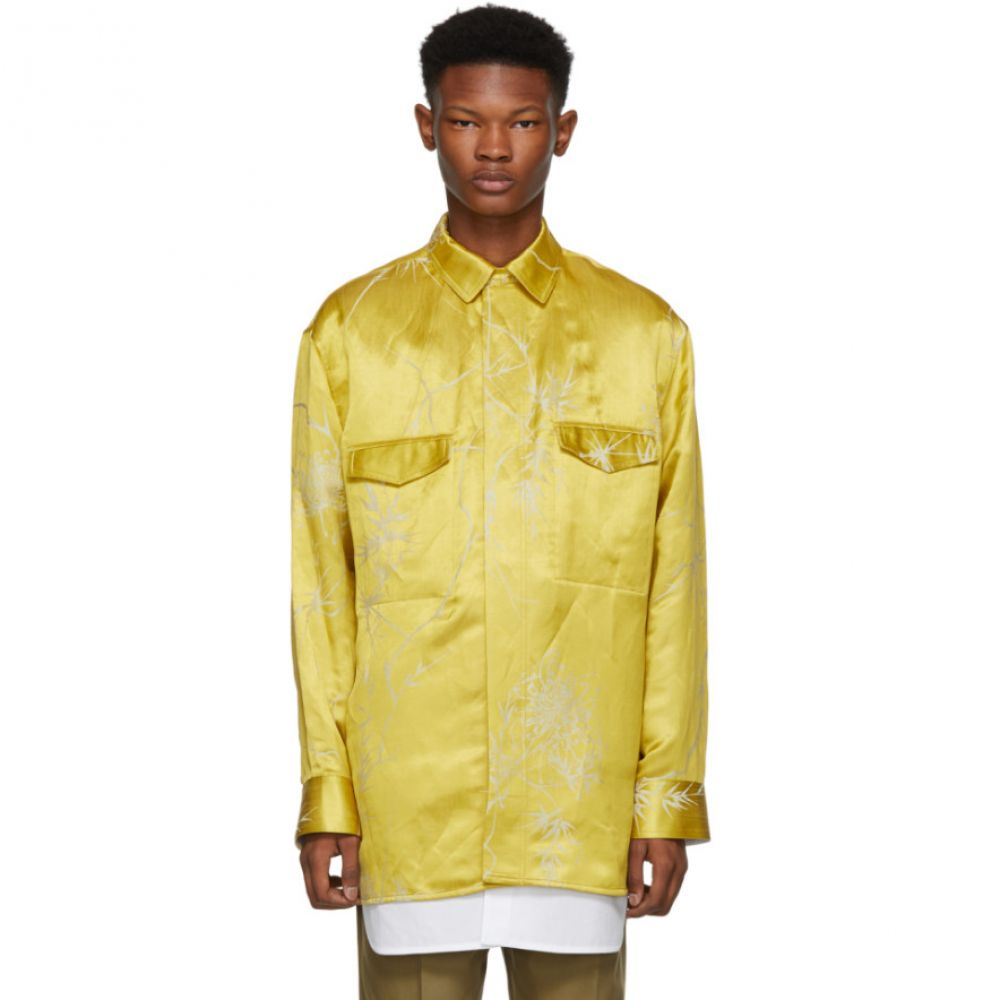 ハイダー アッカーマン Haider Ackermann メンズ トップス シャツ【Gold & White Double Layer Shirt】