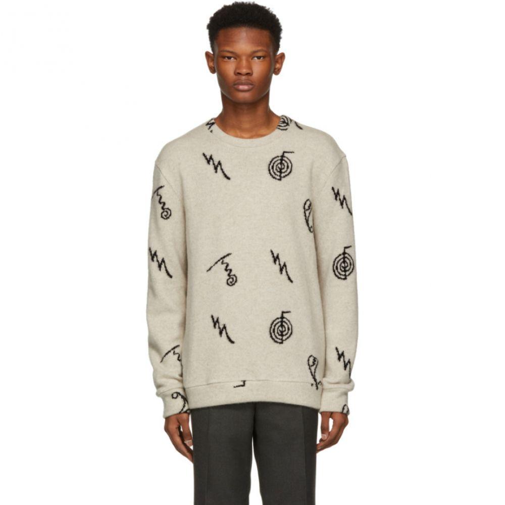 ジ エルダー ステイトマン The Elder Statesman メンズ トップス ニット・セーター【Black Cashmere Intarsia Sweater】