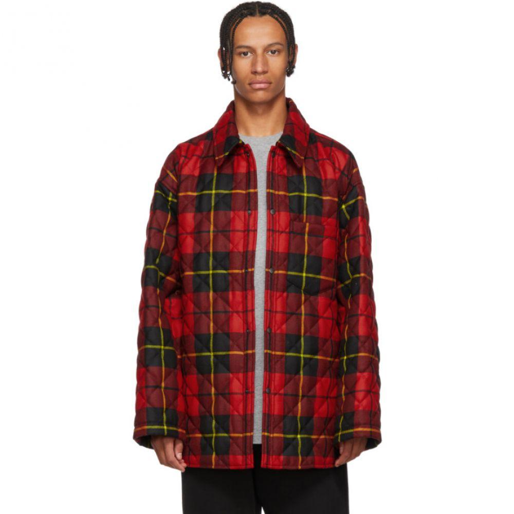 バレンシアガ Balenciaga メンズ トップス シャツ【Red & Black Polar Check Padded Shirt】
