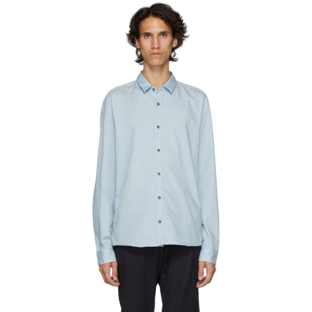 ヒューゴ ボス Hugo メンズ トップス シャツ【Blue Poplin Slim Shirt】