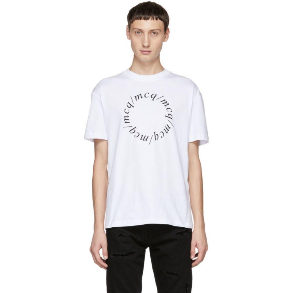 アレキサンダー マックイーン McQ Alexander McQueen メンズ トップス Tシャツ【White Dropped Shoulder T-Shirt】