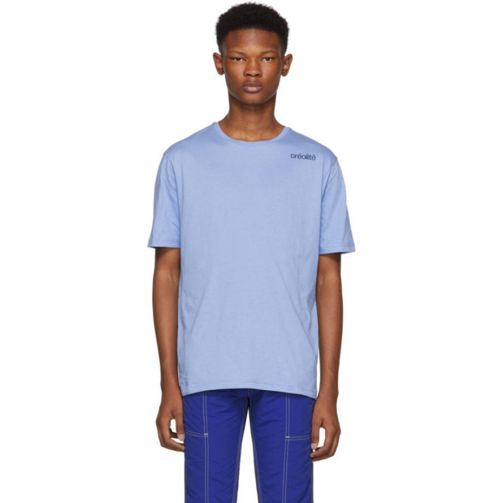 ウェールズボナー Wales Bonner メンズ トップス Tシャツ【Blue 'Creolite' T-Shirt】