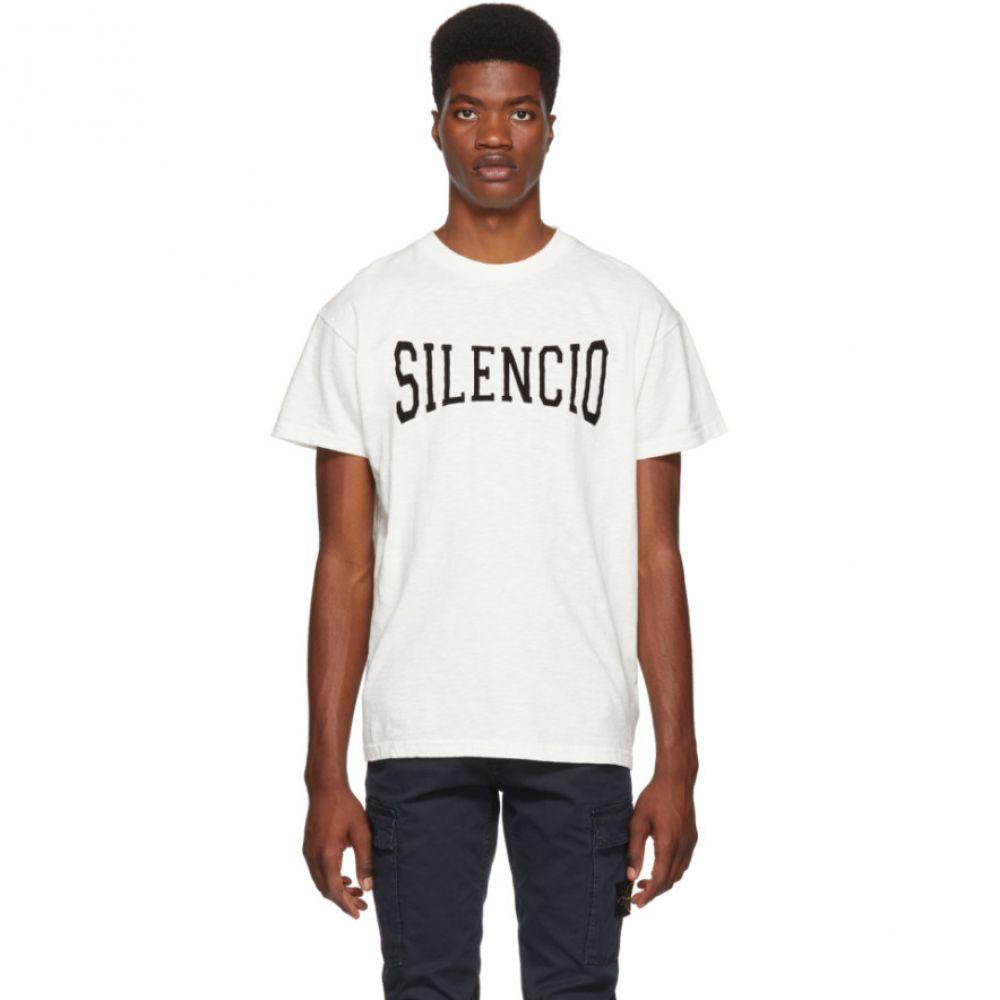 ナサシーズンズ Nasaseasons メンズ トップス Tシャツ【White 'Silencio' T-Shirt】
