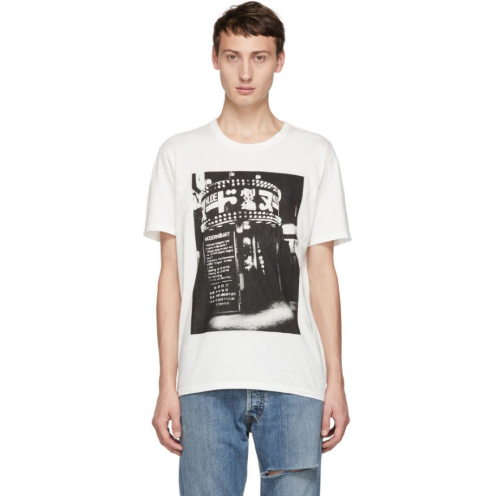 ワコマリア Wacko Maria メンズ トップス Tシャツ【White Daido Moriyama Edition 'Modern Art' T-Shirt】