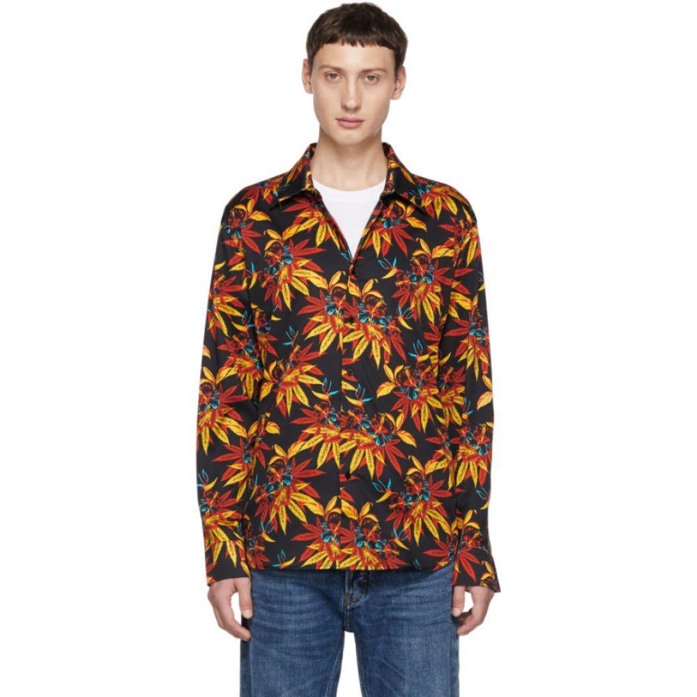 トリプルエス ワールド コープ SSS World Corp メンズ トップス シャツ【Black Weed Hibiscus Long Sleeve Shirt】