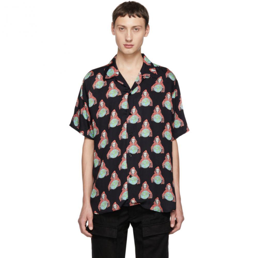トリプルエス ワールド コープ SSS World Corp メンズ トップス シャツ【Black World Reaper Shirt】
