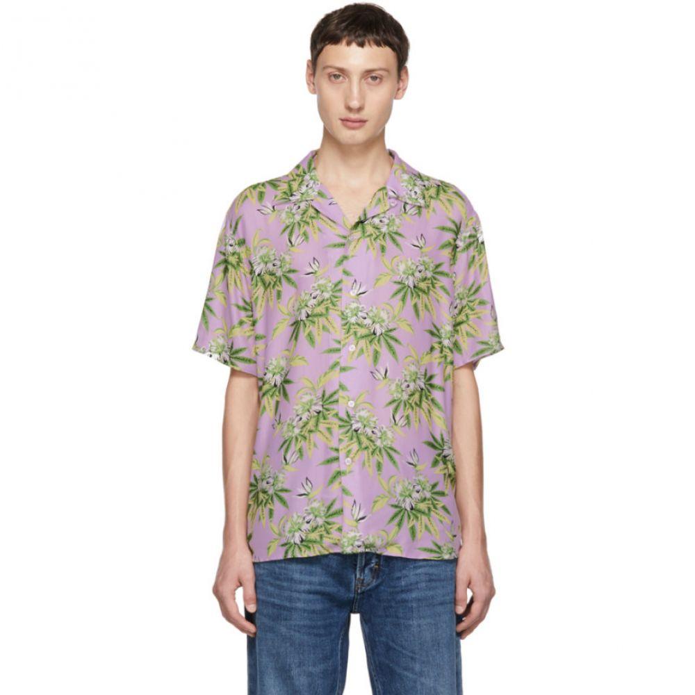 トリプルエス ワールド コープ SSS World Corp メンズ トップス シャツ【Purple Weed Hibiscus Shirt】