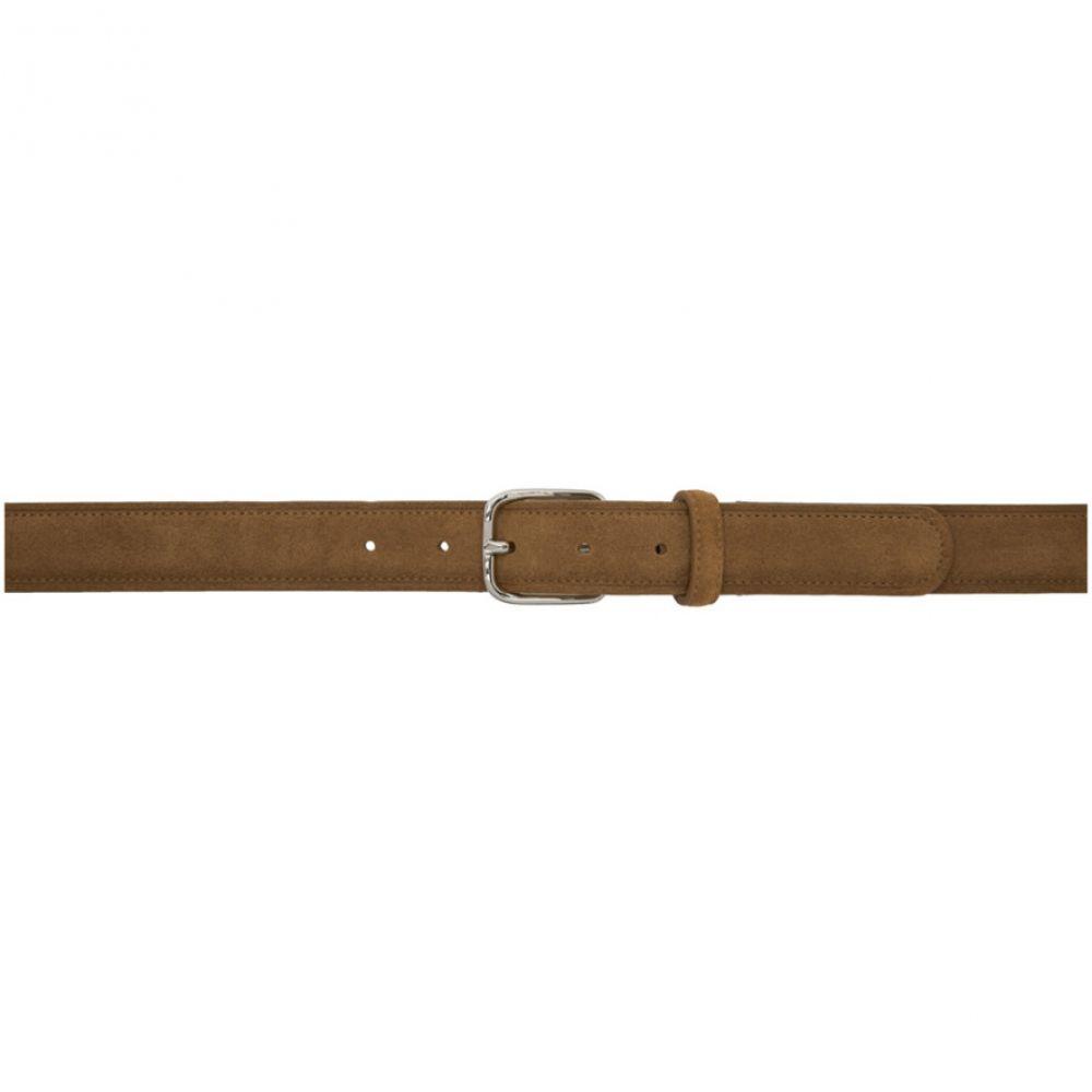 3dba4e37b580 メンズ A.P.C. アーペーセー ベルト【Brown Belt】 Vincent-メンズベルト ...