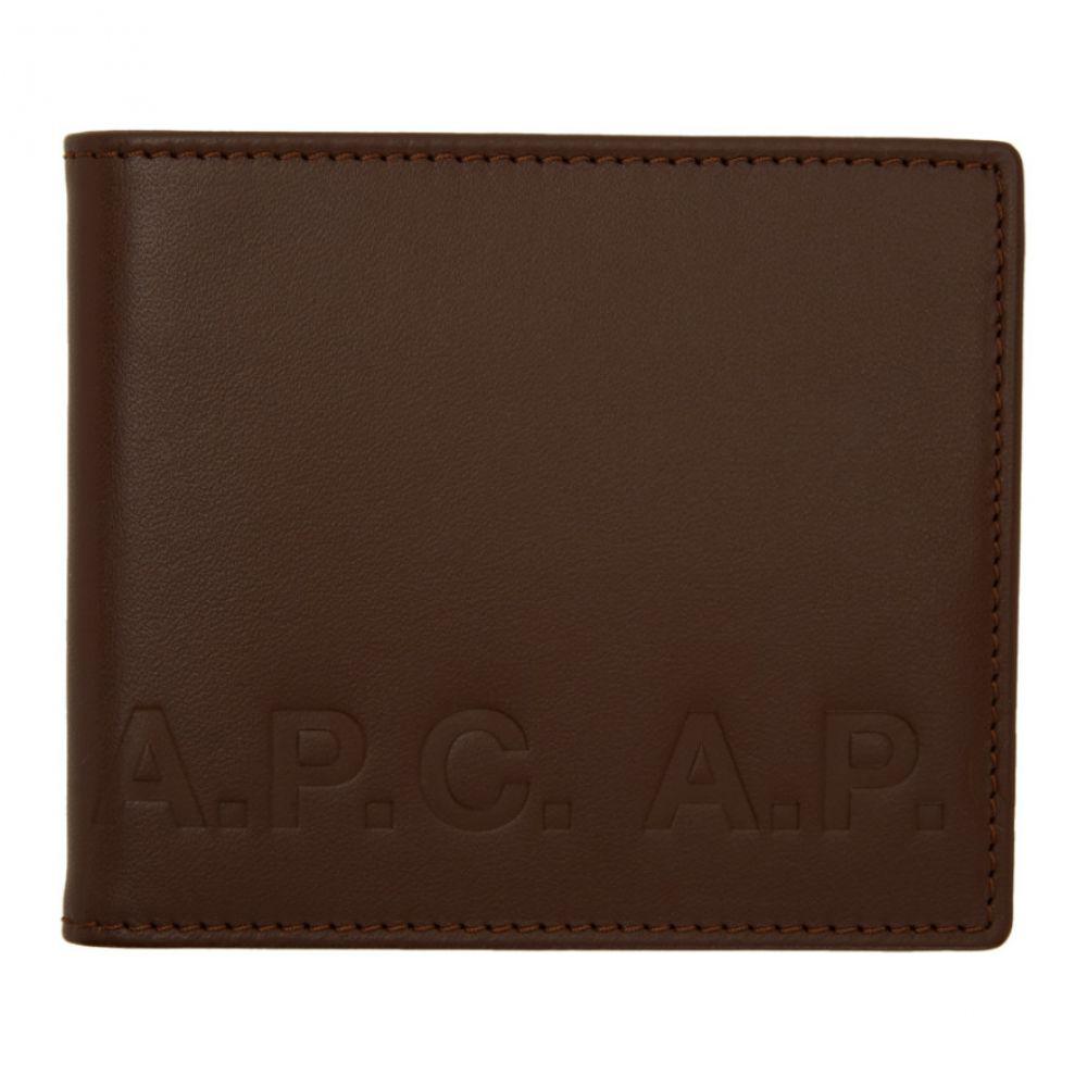 アーペーセー A.P.C. メンズ 財布【Brown Aly Logo Wallet】