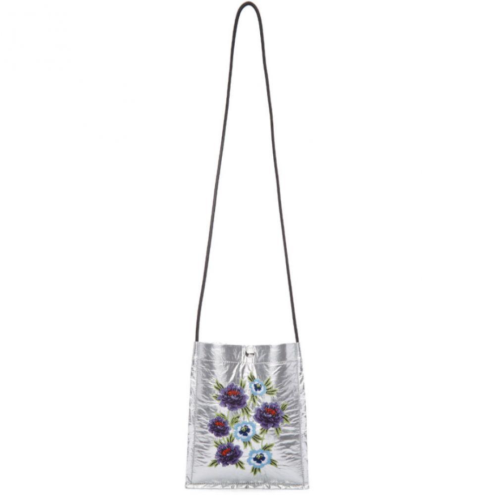 ケンゾー Kenzo メンズ バッグ メッセンジャーバッグ【Silver 'Cheongsam Flower' Cross Body Bag】