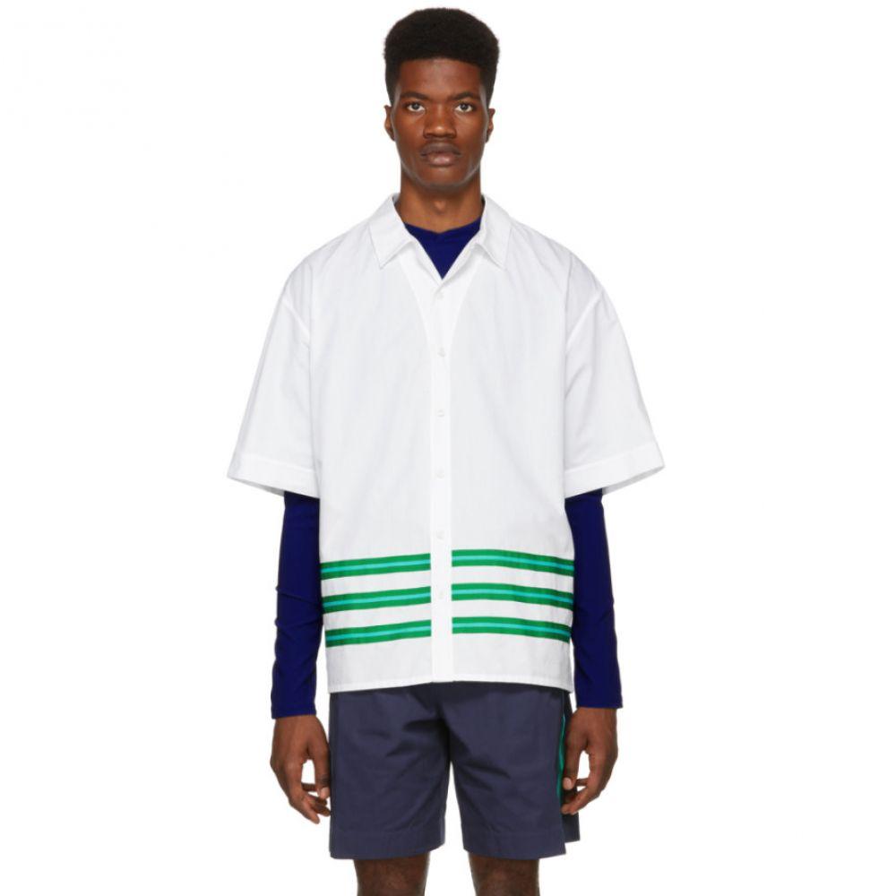 ケンゾー Kenzo メンズ トップス シャツ【White Striped Hawaiian Shirt】