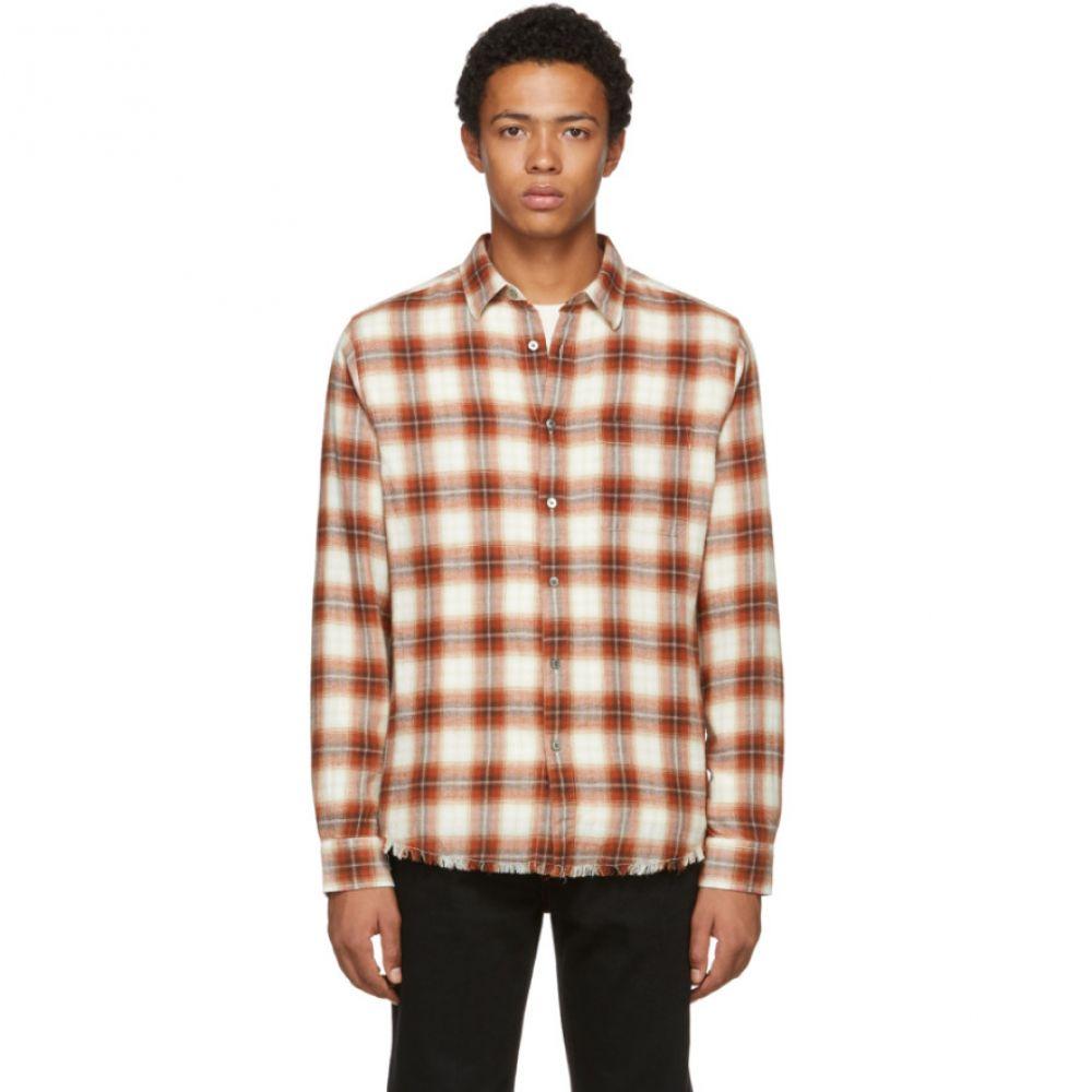 フレーム Frame メンズ トップス シャツ【Red & White Plaid Work Shirt】