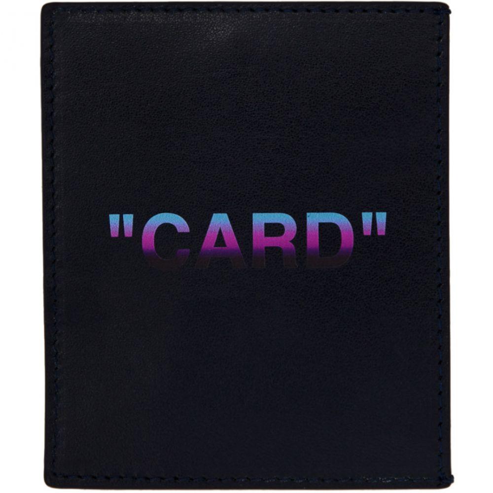 オフ-ホワイト Off-White レディース カードケース・名刺入れ【Blue Quote Card Holder】