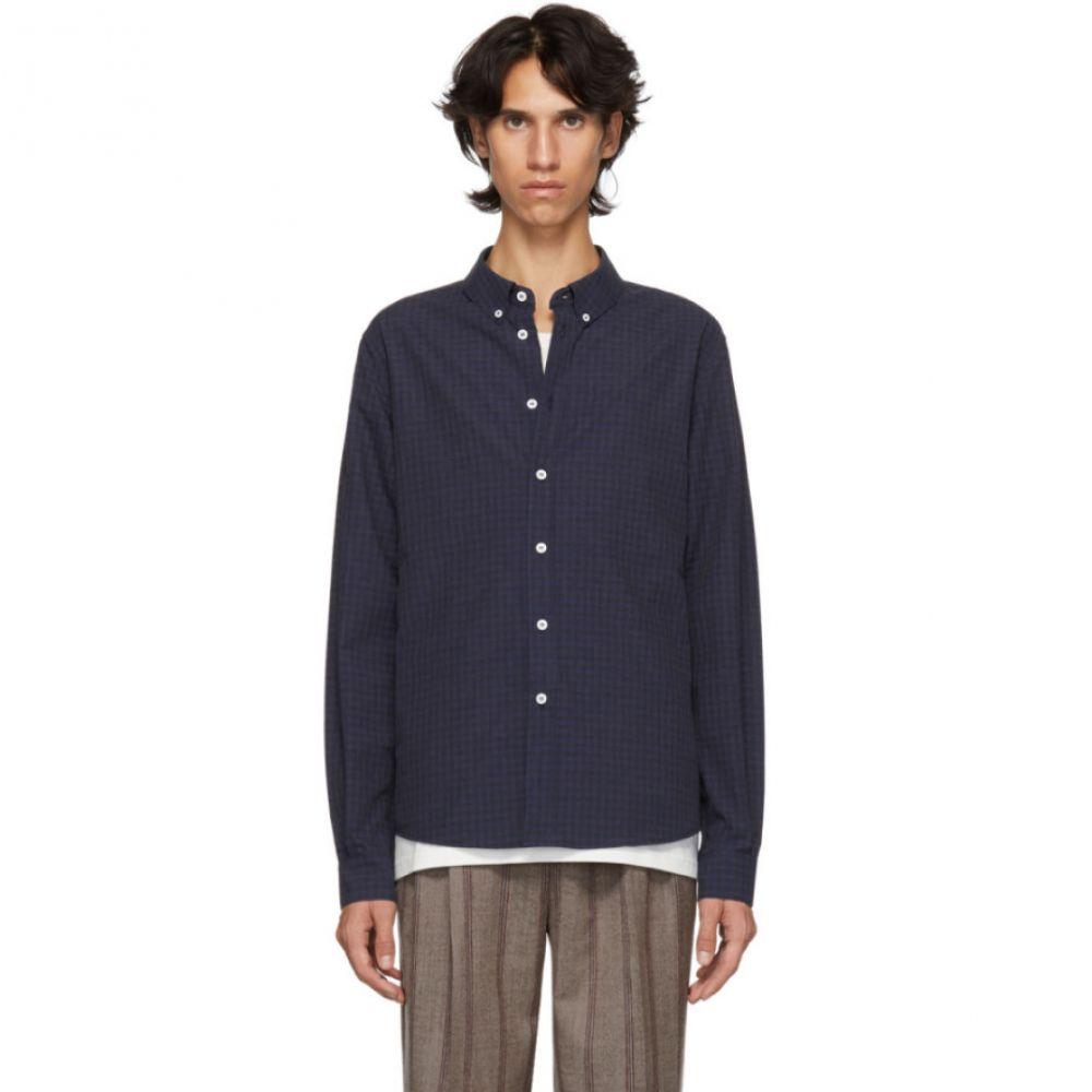 エディションズ エムアール Editions M.R メンズ トップス シャツ【Blue & Black Check Oxford Shirt】