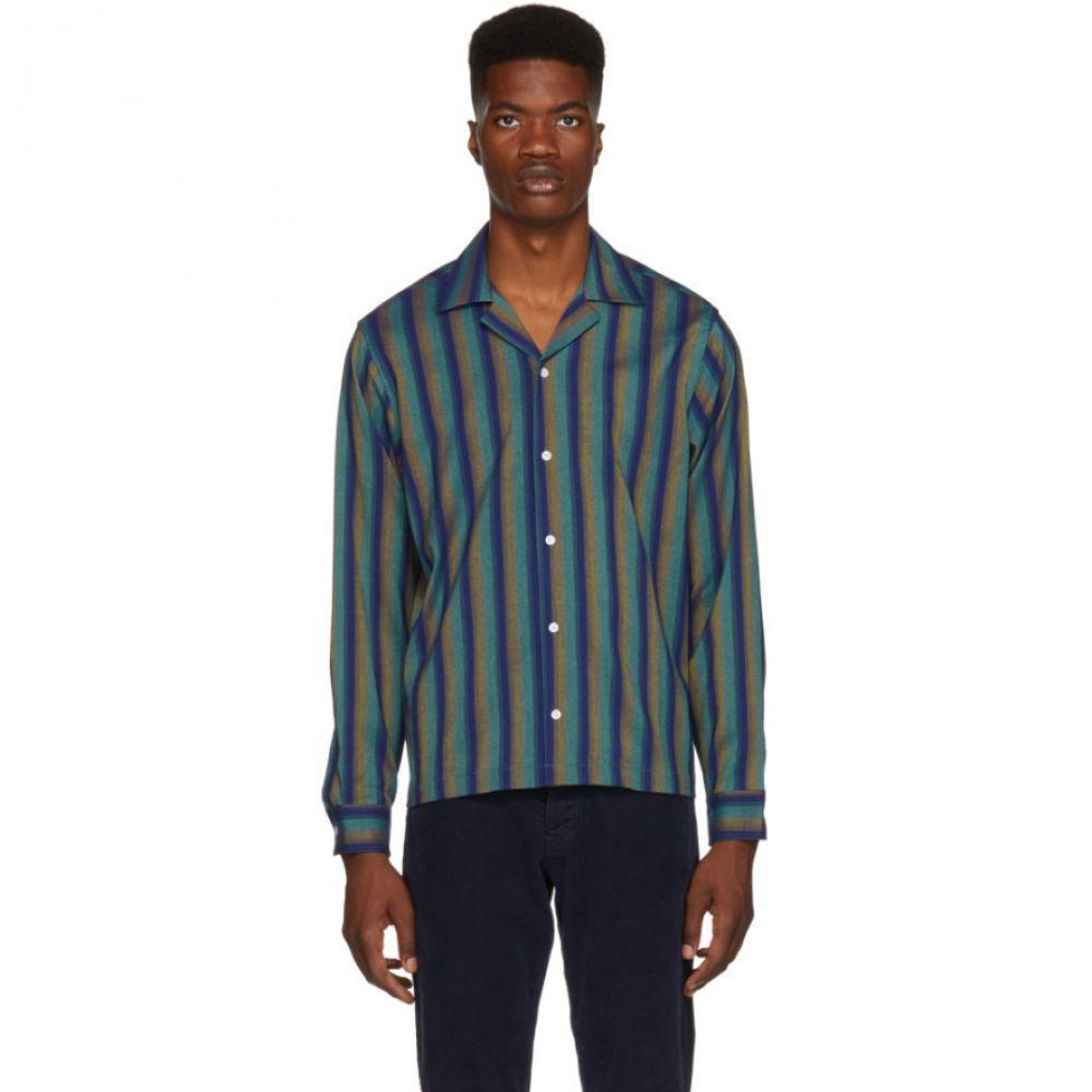 サタデーニューヨーク Saturdays NYC メンズ トップス シャツ【Green & Blue Marco Frequency Shirt】